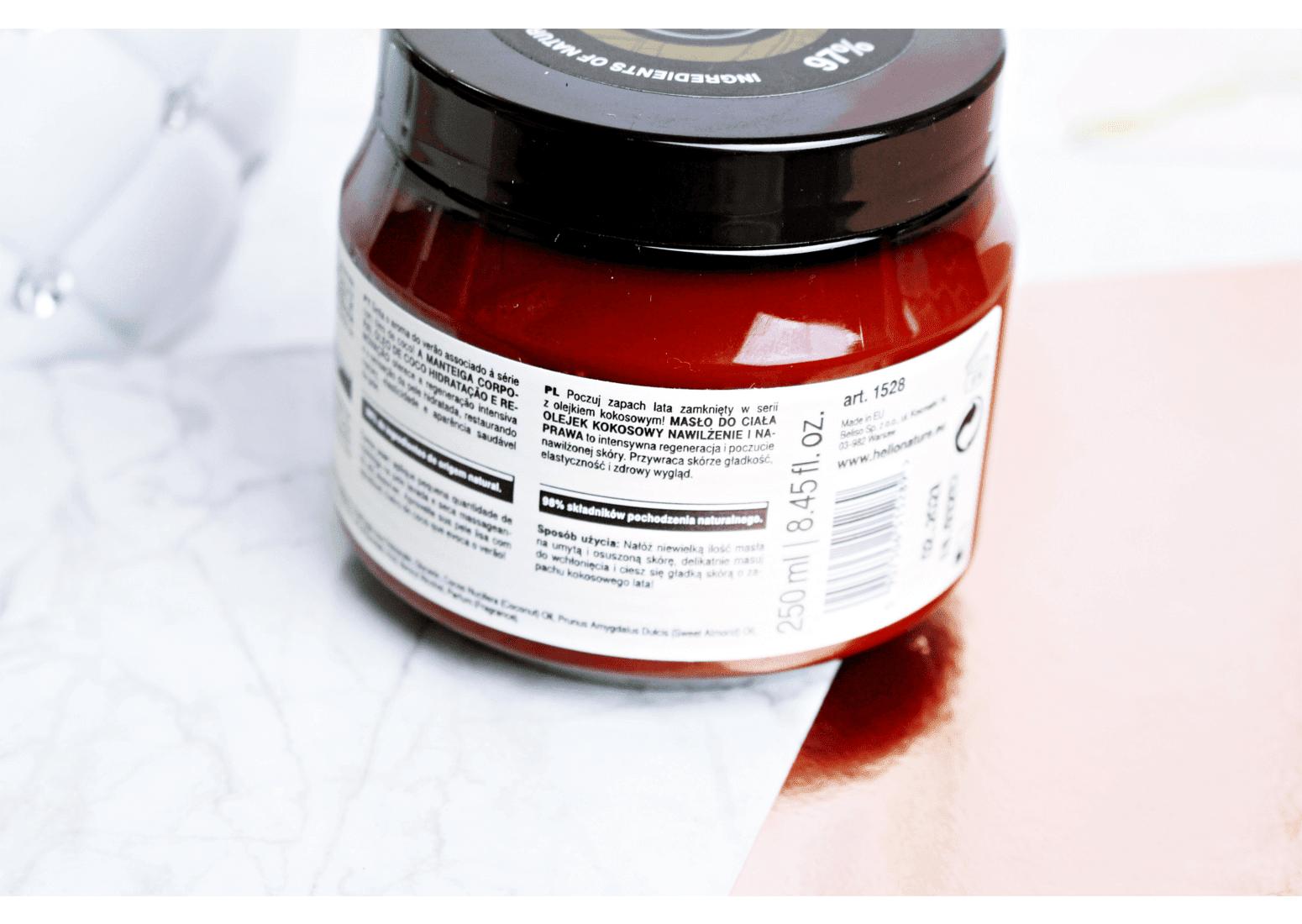 Kosmetyki Hello Nature Masło do ciała z olejem kokosowym Cece of Sweden Coconut Oil