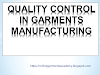 Quality control flow chart of Garments Manufacturing
