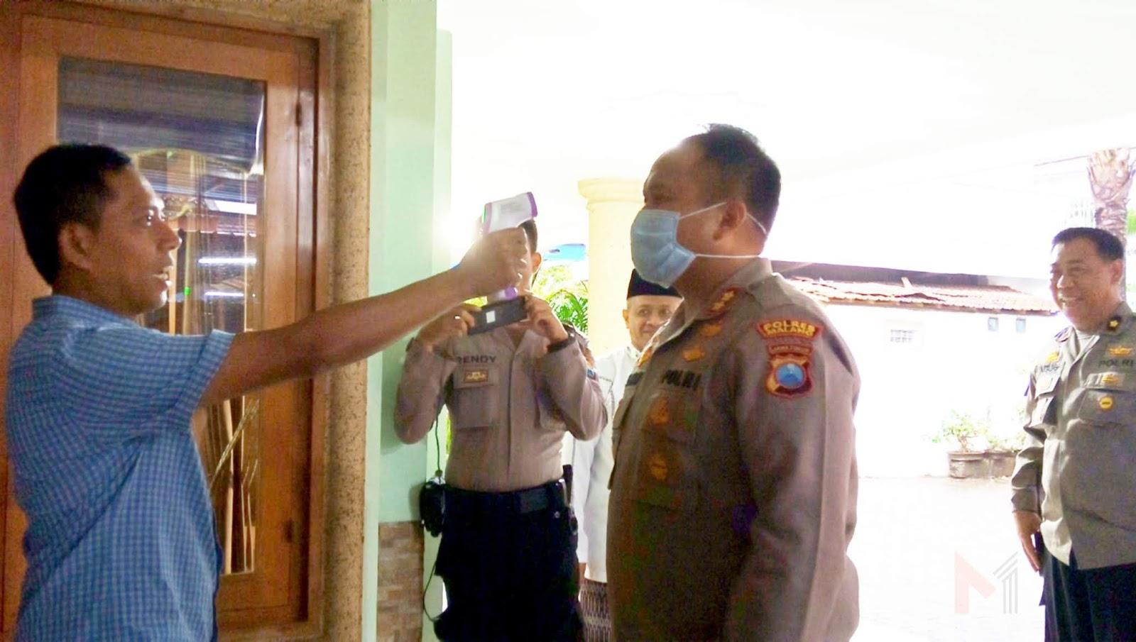 Terapkan Physical Distancing, Ponpes RU II Putukrejo Di Kunjungi Kapolres Malang