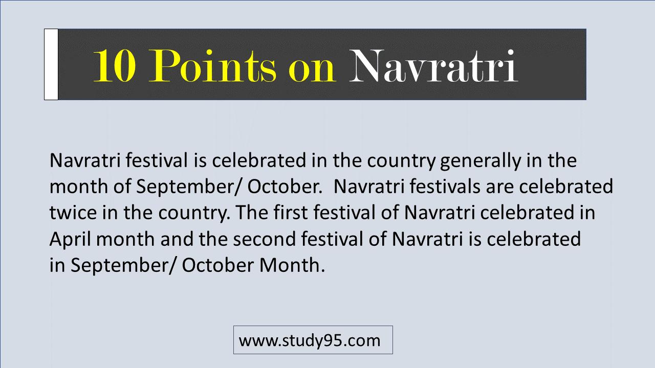 lines on Navratri