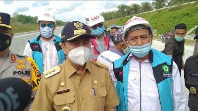Gubri Pastikan Penlok di Tol Pekanbaru-Rengat Segera Rampung