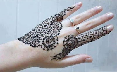 Mehndi designs only on fingers