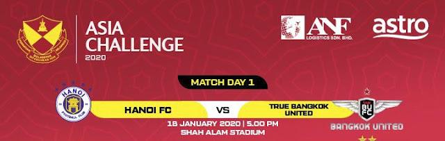 Live Streaming Hanoi FC vs Bangkok United 18.1.2020