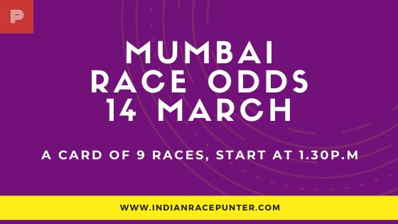 Mumbai Race Odds 14 March