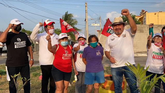 """Panchito"" Torres se comprometa a impulsar huertos en colonias de Mérida"