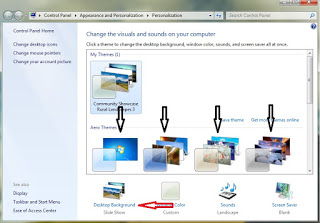 Cara mengganti background desktop di windows 7