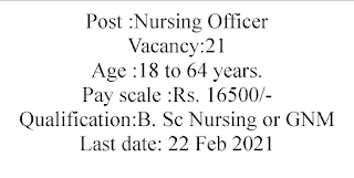 Staff Nurses- Nursing Officer Recruitment