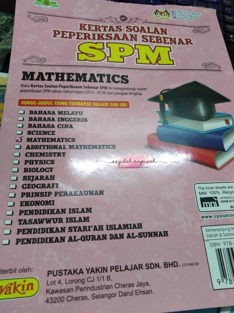 tips lulus matematik spm