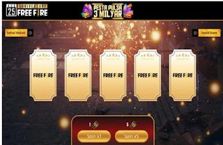 Event Anniversary Free Fire, Cara Dapat Tiket dan Token Event Anniversary Free Fire