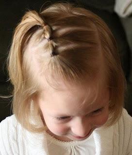 niña cabello cortito trenza