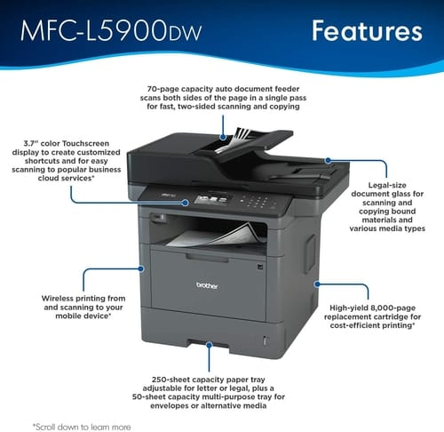 Review Brother MFC-L5900DW Multifunction Printer