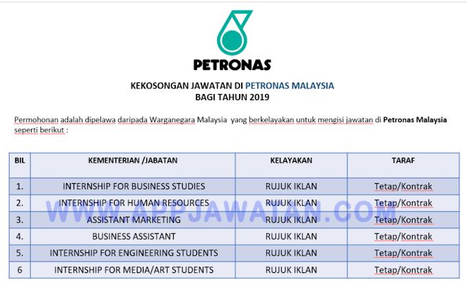 Jawatan Kosong Terkini di Petronas Malaysia.