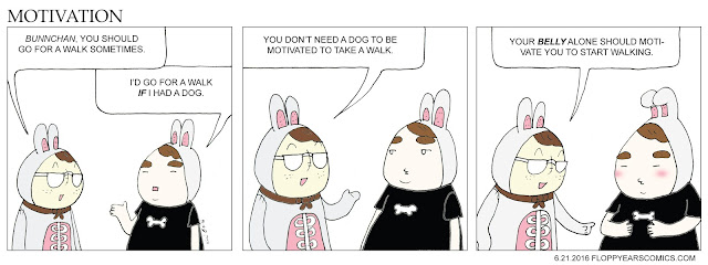 FLOPPY EARS COMICS FUNNY MOTIVATION DIET EXERCIST DOG
