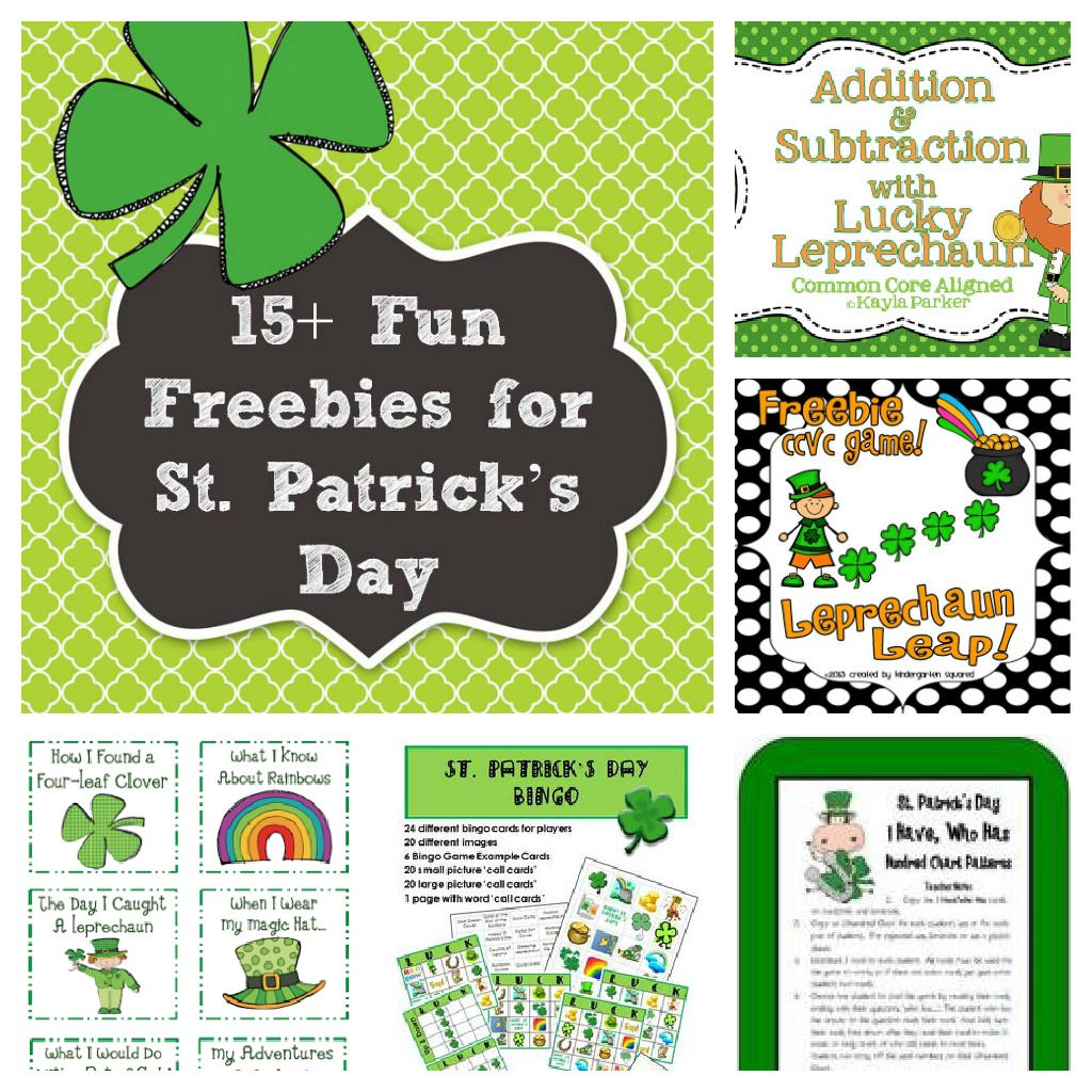 15 St Patrick S Day Freebies And Fun Ideas