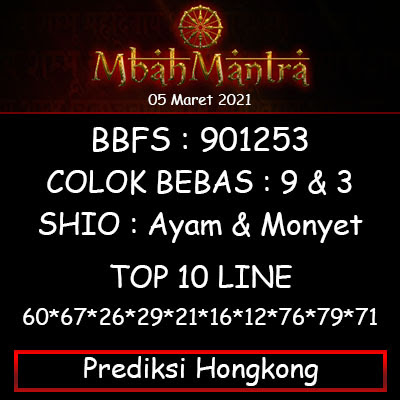 Prediksi Angka Hongkong 05 Maret 2021