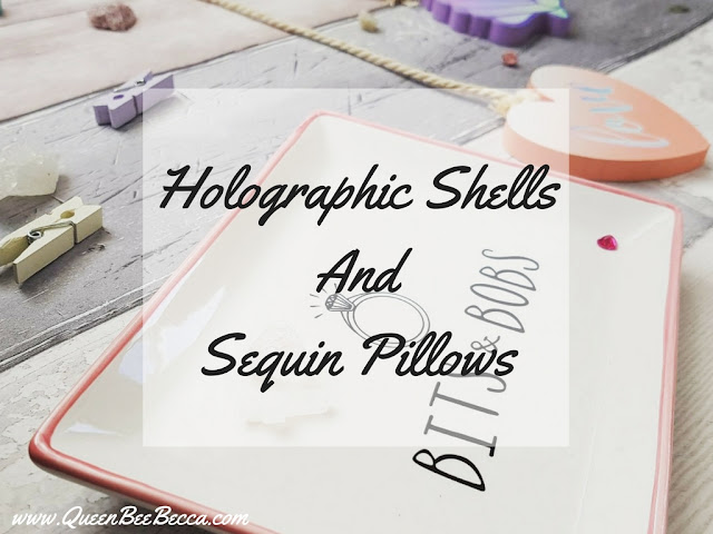 Holographic Shells And Sequin Pillows