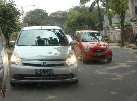 alat komunikasi, driver, headlamp, lampu, mobil, dinyalakan