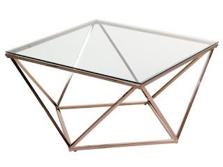 mesa centro actual acero cristal