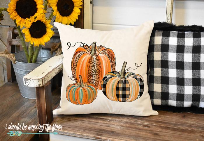 Patterned Pumpkin Pillows
