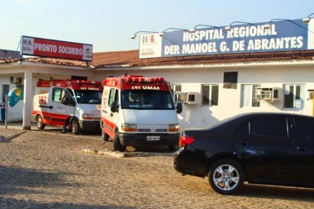 Idoso morre com suspeita de H1N1 e mulher é internada na UTI do Hospital Regional de Sousa