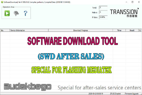 Software Download Tool (SWD After Sales) Special for Flashing MTK