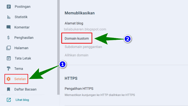 cara menghubungkan domain ke blogspot