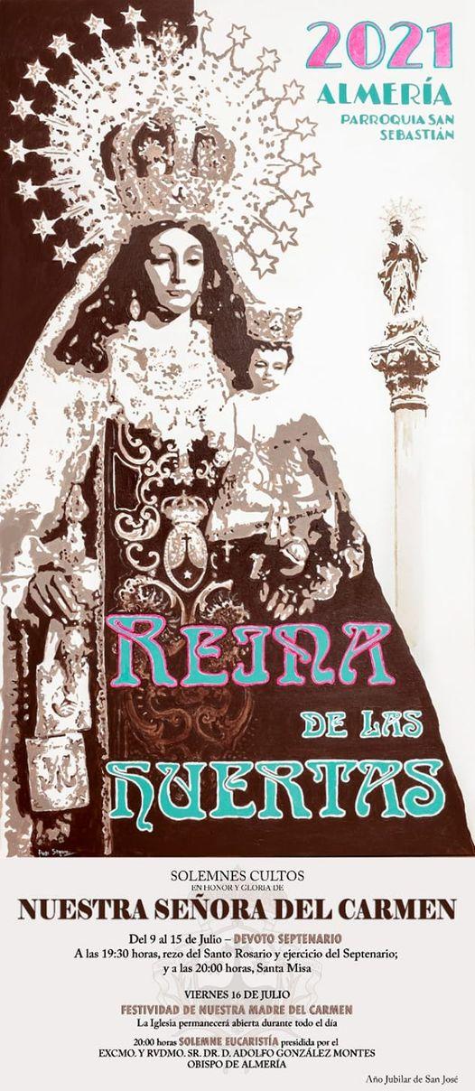 Cartel de la Hermandad de Nuestra Señora del Carmen Coronada, Reina de las Huertas 2021