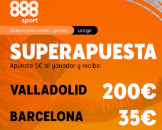 888sport Superapuesta Liga Valladolid vs Barcelona 11 julio 2020