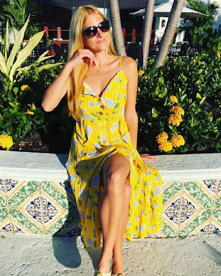 Yellow Pineapple Sun Dress $20.99 on Amazon