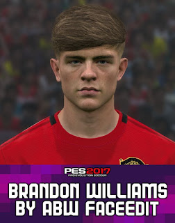 PES 2017 Faces Brandon Williams by ABW_FaceEdit