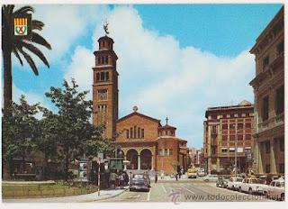 La iglesia de Sta. Eulalia de Mérida (años 60)