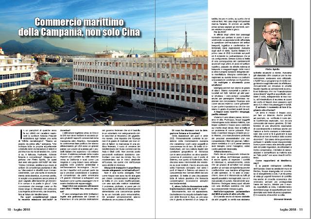 LUGLIO 2018 PAG 10 - Commercio marittimo della Campania, non solo Cina