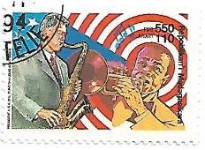 Selo Bill Clinton e Louis Armstrong