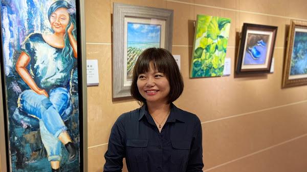 素人美女畫家陳晴湄 《覓謐》油畫展在彰濱秀傳