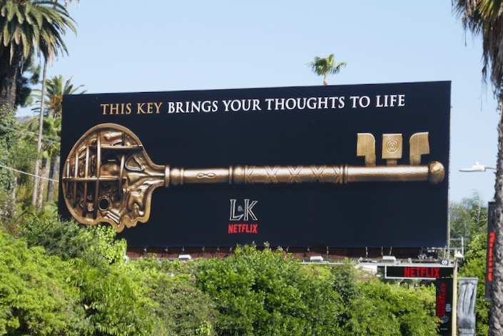 Locke and Key brings your thoughts to life billboard