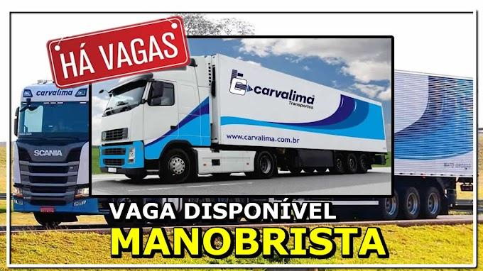 Transportadora Carvalima abre vagas para Manobrista Carreteiro