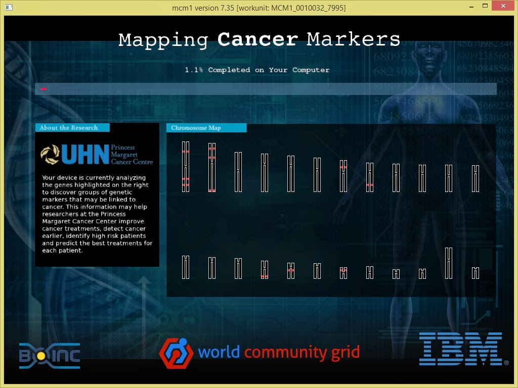 Interfejs graficzny BOINC - grafika projektu
