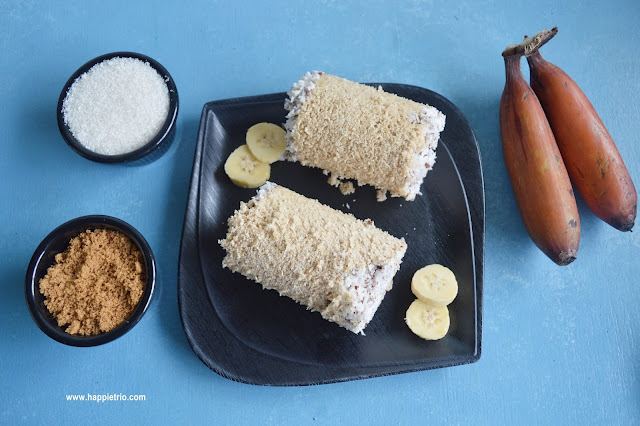 Wheat Flour Puttu Recipe | Godhumai Puttu | Steamed Wheat Flour Cake