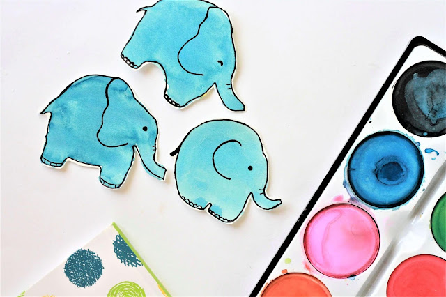 Elefant einfach malen