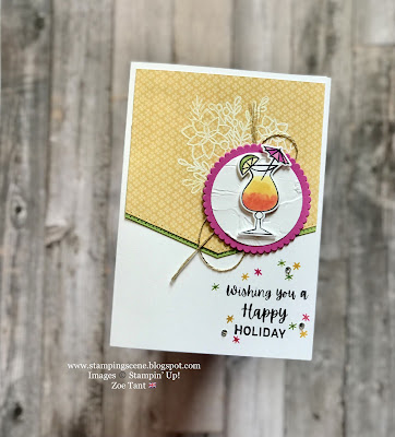handmade card using Nothing's Better than Stampin Up set