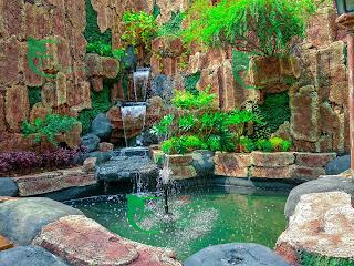 jasa pembuatan kolam ikan hias dinding relief