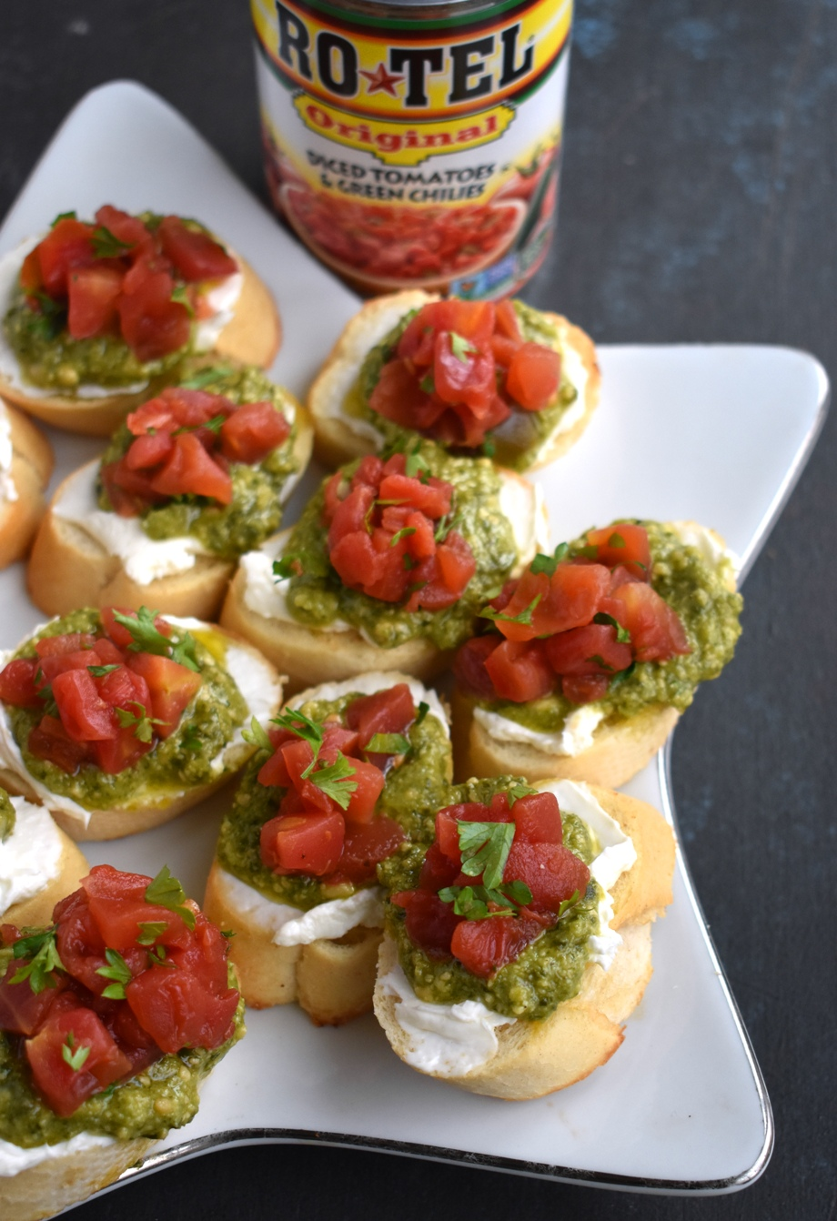 Christmas appetizer on a plate
