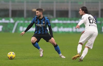 ملخص واهداف مباراة انتر ميلان وسبيزيا (2-1) الدوري الايطالي