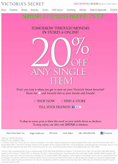 Victoria's Secret coupons march