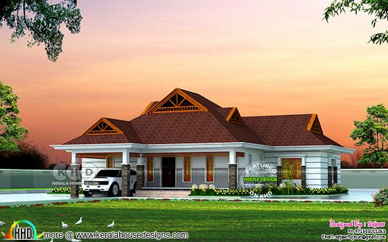 4 bedroom traditional modern type Kerala villa