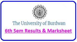 Burdwan University 6th Sem Result 2021