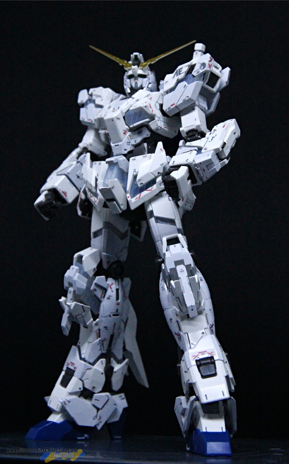Painted Build: RG 1/144 Unicorn Gundam [Destroy Mode] Lighting Model ver. TWC - Gundam Kits Collection News and Reviews