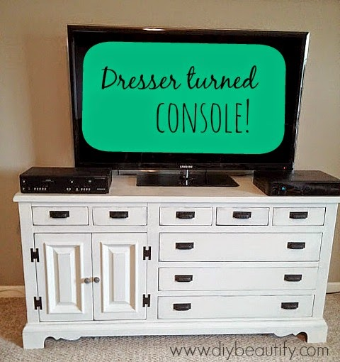 painted dresser turned console www.diybeautify.com