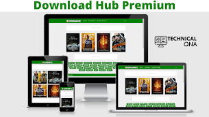 Download Hub Premium Version - Perfect for Movie Sites - Responsive Blogger Template