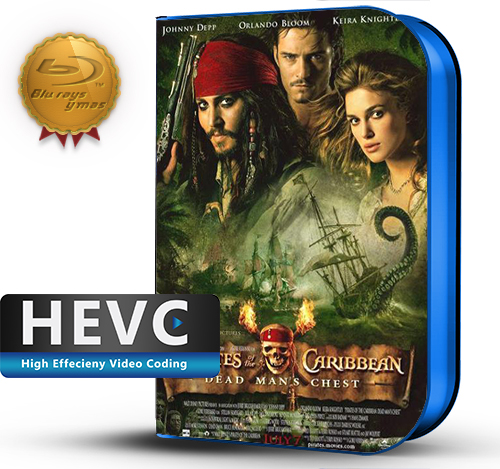 Pirates of the Caribbean: Dead Man's Chest (2006) 1080P HEVC-8Bits BDRip Latino/Ingles(Subt.Esp)(Aventura)